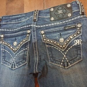 MISS ME Low Rise Bootcut Jeans, size 24